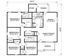 1600 Sq Ft House Plans 4 Bd 2 Bath Like The Great Room And Views