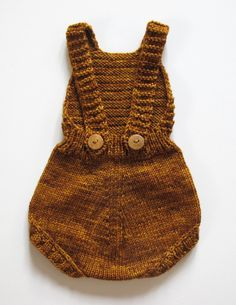 Vintage inspired sunsuit with bib front and straps that button in the back. Coordinates well with our new PRAM CARDIGAN hand knit in Peru 100% hand dyed merino