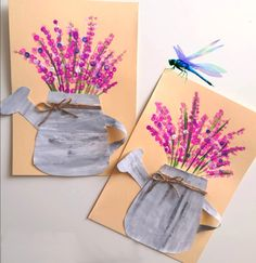 Spring Art Projects, Spring Crafts For Kids, Summer Crafts, Art For Kids, Flower Crafts, Flower Art, Preschool Crafts, Kids Crafts, Arts And Crafts