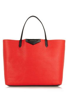 Givenchy Large Antigona shopping bag in red textured-leather   NET-A-PORTER