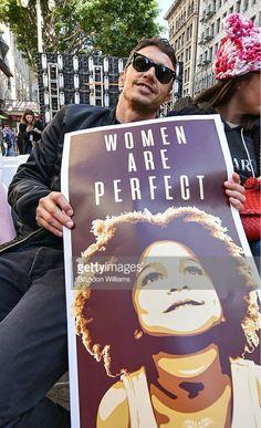 2017 Women's March.  James Franco.