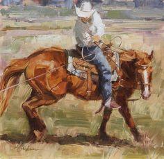 Cow Sense - Oil  Lindsey Bettner Graham western chestnut art | western horse art| western art |