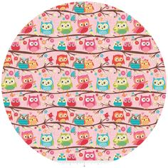 Riley Blake, Happy Flappers, KNIT, Owl Pink