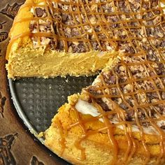 The Other Side of Fifty ~ Pumpkin Toffee Cheesecake (Treats For Co-Irkers)