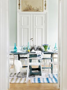 Table Inspiration by IKEA- I like a lot of this, but not ALL of this...