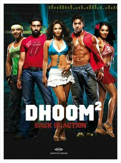 Dhoom wonderful Bollywood movie about thieves.great songs and lots of action. Bollywood Movies Online, Hindi Movies Online, Hindi Movie Song, Movie Songs, Bollywood Posters, Bollywood Songs, Good Girl, Hrithik Roshan, Dhoom 2