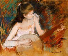 Cassatt, Mary : M.Cassatt, Girl with banjo...