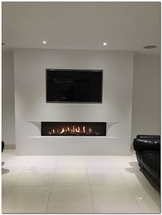 Tulp balanced flue gas fire with the superb undercover shaped fascia set in a false chimney breast with fully inset TV. Home Living Room, Room Design, Home Fireplace, Living Room With Fireplace, Fireplace Design, Modern Fireplace, Urban Interiors, Creative Living Room Ideas, Living Room Tv