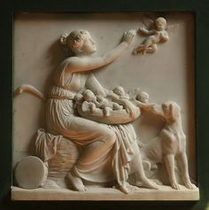 Thorvaldsen, shepherdess with a cupids' nest by groenling