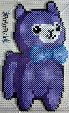 Purple Alpaca by PerlerPixie.deviantart.com on @DeviantArt