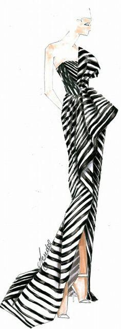 #Kaufman Franco Gown Fashion Illustration   House of Beccaria#