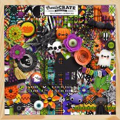 Our Create Crate Monthly Collection for October is called Toil & Trouble. With about 100 Halloween themed and bright scrappy elements and ov...