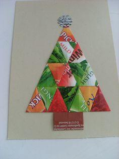 Christmas card teabag folding / origami Kerstkaart theezakjes vouwen / origami