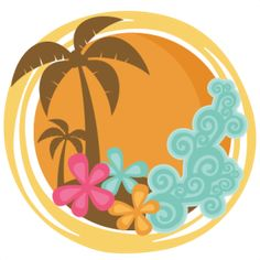 Dailyy Freebie 6-28-14: Miss Kate Cuttables--Tropical Sunset SVG cutting files for scrapbooking veach svg cut files vacation svg cut files for cricut