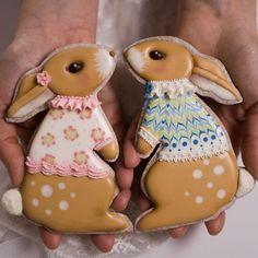 Iced Cookies, Cut Out Cookies, Royal Icing Cookies, Fun Cookies, Cupcake Cookies, Easter Bunny Cake, Easter Cookies, Mini Christmas Cakes, Summer Cookies