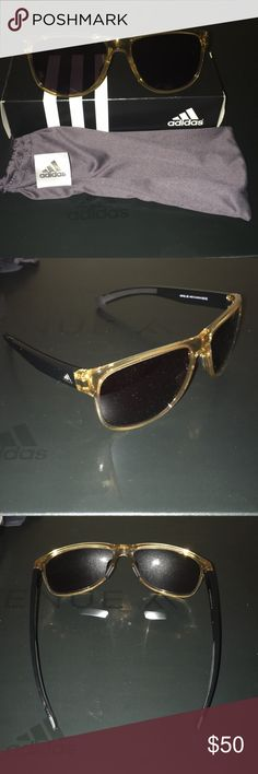 Adidas Sunglasses Avenue A Fall 2017 Brand new adidas sunglasses in a yellow gold color are a perfect addition to your workout and workout gear. Protect your eyes while playing sports and still look fabulous while doing so. Exclusive from the avenue a collection and offered to you at an incredible discount. These glasses retail at $90.00! New in box and comes with a pouch. Comes from a smoke/pet free/clean home! Questions about this item or more pics please do not hesitate to let me know…