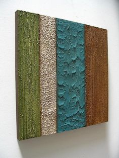 MODERN art TEXTURE wall sculpture ABSTRACT 36x36 original acrylic painting on canvas blue / green