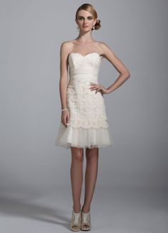 Sweetheart Lace Dress with Peek-A-Boo Hemline