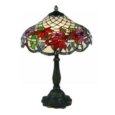 Oaks Lighting Adara Tiffany Large Table Lamp