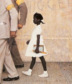 So Touching It S About Ruby Bridges Portrait Being Hung