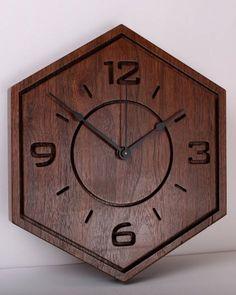 CLOCKS & CUTTING BOARDS FOR CHRISTMAS Black Walnut Slab Wall clock wall art wood by TimberlakeDesign