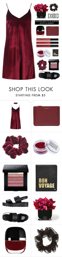 """crushed velvet"" by amazing-abby ❤ liked on Polyvore featuring Boohoo, Comme des Garçons, Wild Pair, Obsessive Compulsive Cosmetics, Borghese, Bobbi Brown Cosmetics, Hayden-Harnett, Jeffrey Campbell, Hervé Gambs and Marc Jacobs"