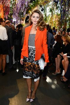 Only Olivia Palermo can make orange and black a SUPER chic color combination. // #Fashion #Style