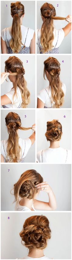 I love having pretty up-dos, and this one is easy to do!