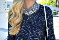 navy is the color this season... love this layered look