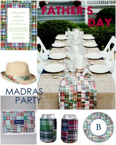 swanky::chic::fete: father's day madras-themed party