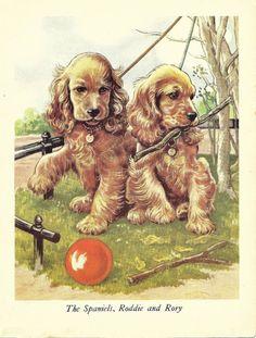 COCKER SPANIEL Dog Print Puppy Print Art Print by TheWholeBook