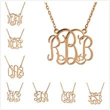 """2015 High quantity Womens New Personalized Name Alloy Necklace ,1.25"""" inch Pendant,split chain,Little Heart ZM001-008(China (Mainland))"""