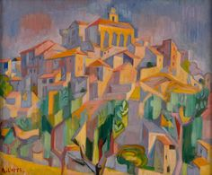 Andre Lhote (French, 1885-1962)Gordes, N/DOil on canvas,26 x 35.2 cm