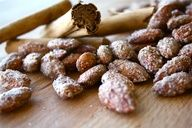 Cinnamon Sugar Roasted Almonds on MyRecipeMagic.com #almonds #cinnamonsugar