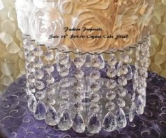 SALE  Wedding Cake Stand with Crystals/ by FashionProposals