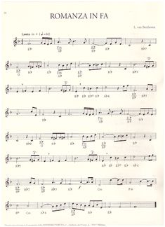 Romanza in Fa - L. Guitar Chords, Ukulele, Trumpet Sheet Music, Clarinets, Van, Products, Flute, Free Sheet Music, Keyboard