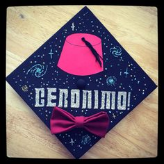 My graduation cap!! Doctor Who inspired!! I love how it turned out. :)