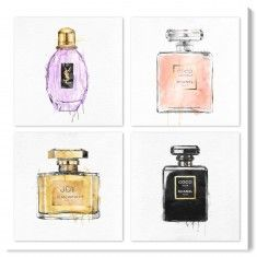Oliver Gal My Perfumes - Set of 4 Fashion Wall Art from The Well Appointed House