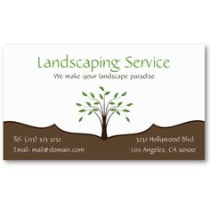 Landscaping Service Business Card Design. $19.95 per pack of 100 business cards.