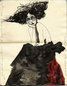 ...drawings in sketchbooks...i miss that! Artwork by Entierro, Erika Kuhn