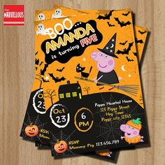 Peppa pig Halloween Halloween party Peppa pig por TheMarvellous