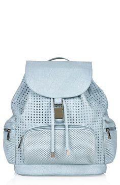 Topshop Perforated Faux Leather Backpack available at #Nordstrom