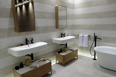 The Porcelanosa Group recently presented its newest designs at Cersaie, a highly regarded international showcase of the latest state-of-the-art trends in Corner Bathtub, News Design, Double Vanity, Master Bathroom, Showroom, Innovation, Bathrooms, Underwater, Home Decor