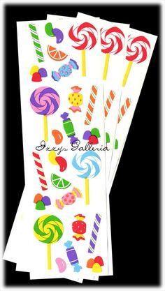 """Mrs Grossman Sticker Sheet Lot 10 Strips Halloween Costumes 3/"""" x 4/"""""""