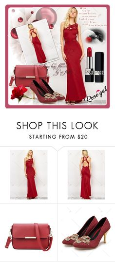 """""""ROSEGAL 50 / I"""" by selmamehic ❤ liked on Polyvore featuring Christian Dior"""