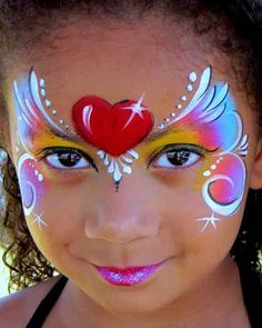 heart mask face painting