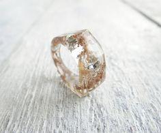 Lichen terrarium ring pastel goth jewelry pastel by Eternity31