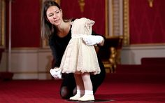The outfit worn by the two-year-old Princess Anne on the day of Queen Elizabeth II's Coronation Photo: EDDIE MULHOLLAND