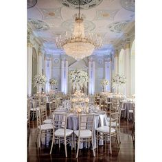 White, Silver Gold Wedding at The Biltmore Ballrooms in Atlanta ❤ liked on Polyvore featuring home, home decor, floral dishes, pasta dishes, white floral centerpieces, hydrangea centerpieces and white dishes