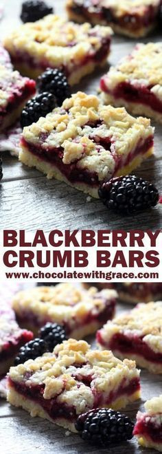 A perfect afternoon snack or simple dessert, these cheery, blackberry crumb bars are a summertime favorite and easier to make. Check out!